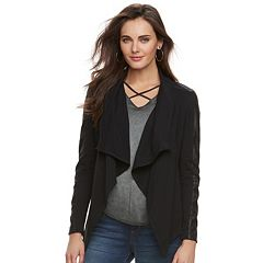 Women's Rock & Republic® Faux-Leather Trim Sweater Jacket