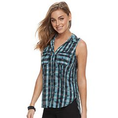 Women's Rock & Republic® Challis Split-Back Shirt
