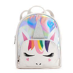 Silver Hologram Unicorn Mini Backpack
