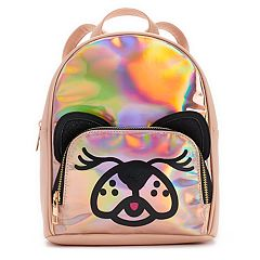 Rose Gold Hologram Dog Mini Backpack
