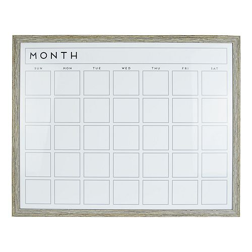 """Belle Maison """"Month"""" Dry Erase Board Wall Decor"""