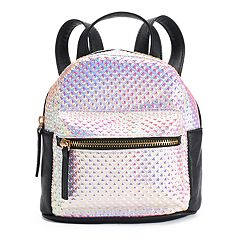 OMG Accessories Geometric Metallic Mini Backpack
