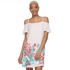 Juniors' Candie's® Smocked Cold-Shoulder Dress