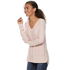 Women's SONOMA Goods for Life™ Trellis Cable-Knit Sweater