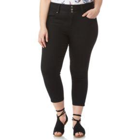 Juniors' Plus Wallflower Insta Soft Crop Skinny Jeans