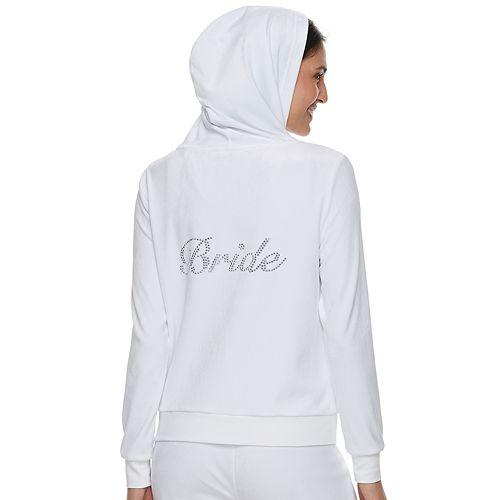 "Women's Juicy Couture ""Bride"" Velour Hooded Jacket"