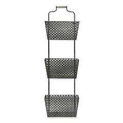 Belle Maison 3-Tier Galvanized Basket Wall Decor