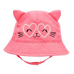 Baby Girl Goldbug Cat Heart Bucket Hat