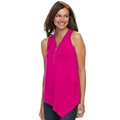 Women's Apt. 9® Asymmetrical Zipper Accent Tank