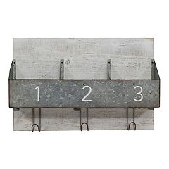 Belle Maison Galvanized Bins Farmhouse Wall Decor