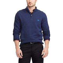 Big & Tall Chaps Regular-Fit Textured Quarter-Zip Pullover