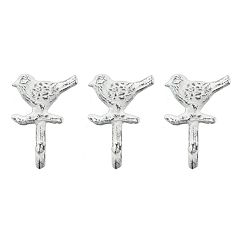 Belle Maison Iron Bird Decorative Wall Hook 3-piece Set