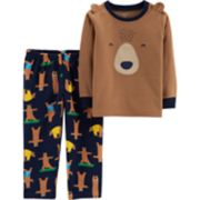 Baby Boy Carter's Microfleece Yoga Bear Top & Bottoms Pajama Set