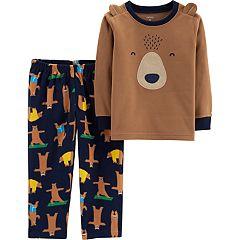 Baby Boy Carter's Microfleece Yoga Bear Top & Bottoms Pajama Set