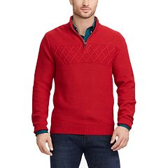 Big & Tall Chaps Regular-Fit Textured Quarter-Zip Pullover