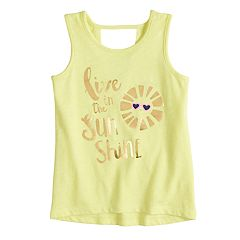 Toddler Girl Jumping Beans® Open-Back Graphic Tank Top