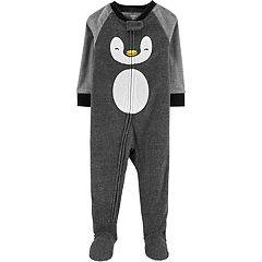 Baby Boy Carter's Penguin Microfleece Footed Pajamas
