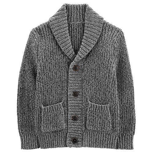 Toddler Boy Oshkosh Bgosh Shawl Collar Button Down Cardigan Sweater