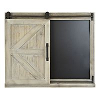 Deals on Belle Maison Barn Door Chalkboard Wall Decor