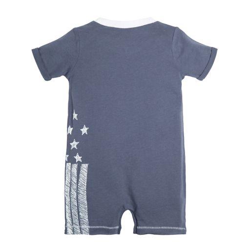 Baby Boy Burt's Bees Baby Stars & Stripes Romper