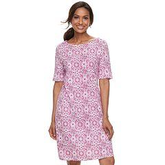 Women's Croft & Barrow® Print Shift Dress