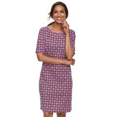 Women's Croft & Barrow® Print Shift Dress
