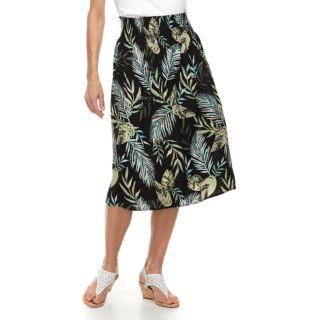 Petite Croft & Barrow® Smocked Challis Skirt