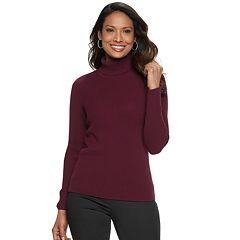 Petite Croft & Barrow® Ribbed Turtleneck Sweater