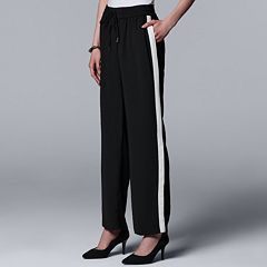 Women's Simply Vera Vera Wang Side-Stripe Wide Leg Pants