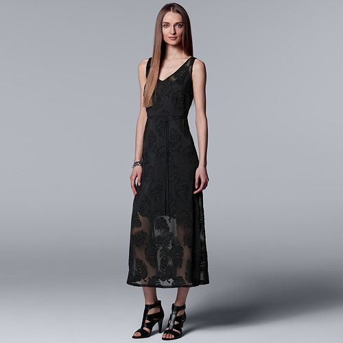 Women's Simply Vera Vera Wang Palm Jacquard Maxi Dress