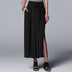 Women's Simply Vera Vera Wang Button-Front Maxi Skirt