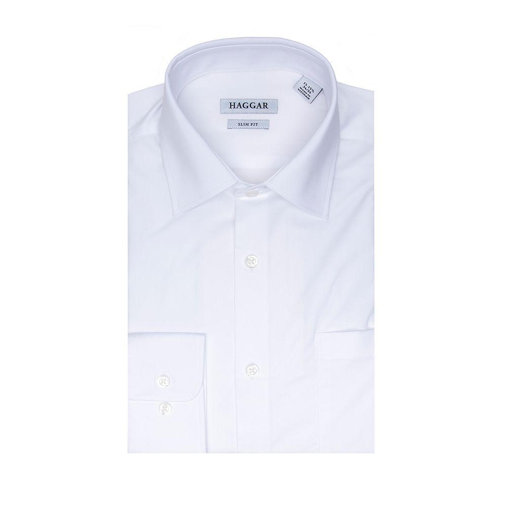 Men's Haggar Premium Comfort Slim-Fit Stretch Dress Shirt