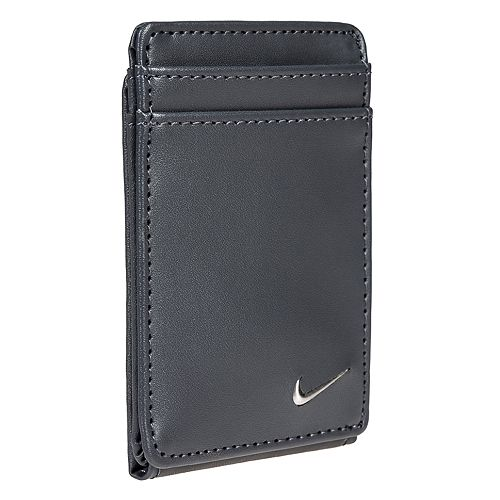 0b2f8a32b9 Men's Nike RFID-Blocking Magnetic Leather Front-Pocket Wallet