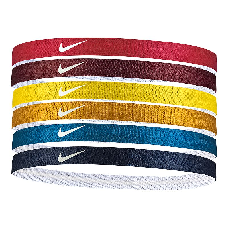 Nike 6-pack Solid Headband Set, Women's, Dark Pink With six vibrant colors to choose from, this women's Nike headband set makes it easy to coordinate your sporty look. 6-pack Silicone grips for a secure fit Swoosh logo FIT & Sizing 0.5 in. width (each) Fabric & Care Polyester, rubber, silicone Machine wash - cold Imported Size: Onesize. Color: Dark Pink. Gender: Female. Age Group: Adult. Pattern: Solid.