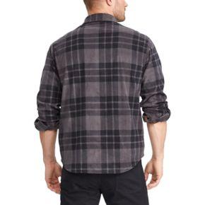 Big & Tall Chaps Regular-Fit Plaid Fleece Shirt Jacket