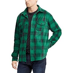 Big & Tall Chaps Regular-Fit Plaid Fleece Shirt Jacket