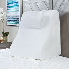 SensorPEDIC Memory Foam Contour Bed Wedge with Adjustable Memory Foam Pillow