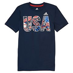 Boys 4-7x adidas Patriotic 'USA' Graphic Tee