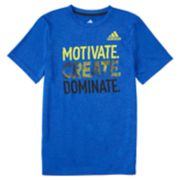 "Boys 4-7x adidas ""Motivate, Create, Dominate"" Graphic Tee"