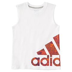 Boys 4-7x adidas Supreme Speed Wrap-Around Logo Tank Top