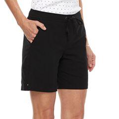 Women's Croft & Barrow® Pull-On Sheeting Shorts