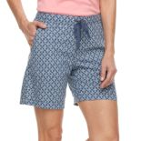 Women's Croft & Barrow® Pull-On Sheeting Shorts