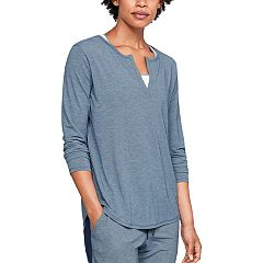 Women's Under Armour Athlete Recovery Sleepwear Long Sleeve Pajama Tee