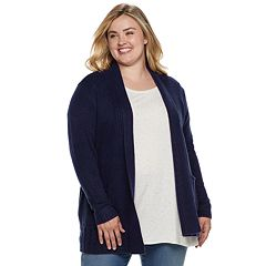 Plus Size SONOMA Goods for Life™ Supersoft Airy Shawl Collar Cardigan
