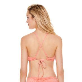 Juniors' Hot Water High-Neck Bikini Top