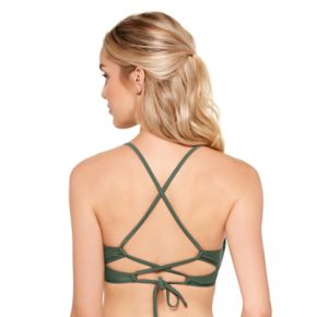 Juniors' Hot Water X-Back Bikini Top