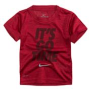 "Toddler Boy Nike ""It's Go Time"" Dri-FIT Tee"