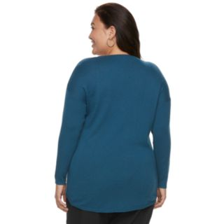 Plus Size Apt. 9 Sparkle Boatneck Sweater