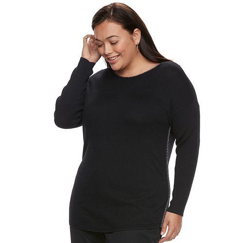 Plus Size Apt. 9® Sparkle Boatneck Sweater