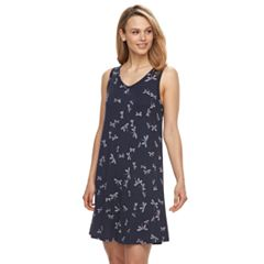 Women's Apt. 9® Printed V-Neck Chemise